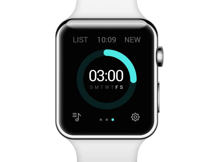 Alarm concept. Apple Watch vector mockup by Alexandr Sholudko