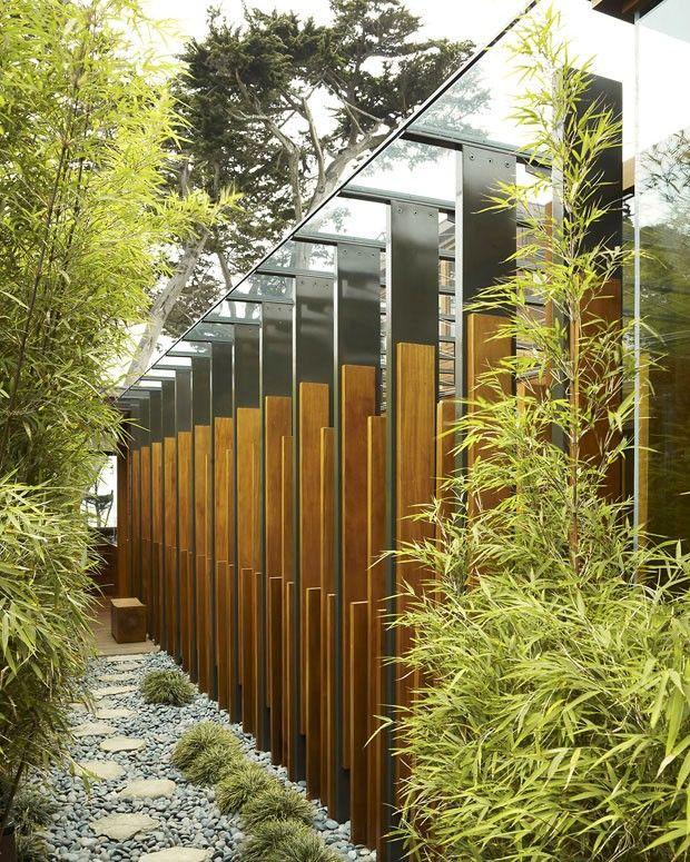 (Foto: David Matheson) Modern garden wall