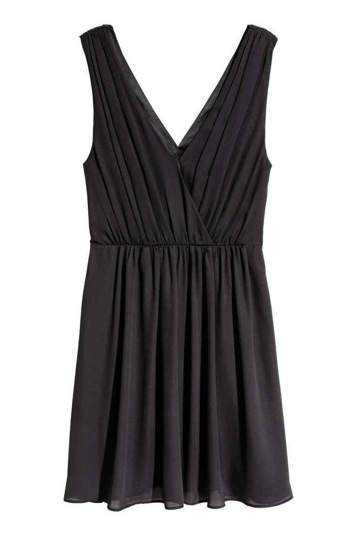 Sukienka w serek - Czarny - ONA | H&M PL
