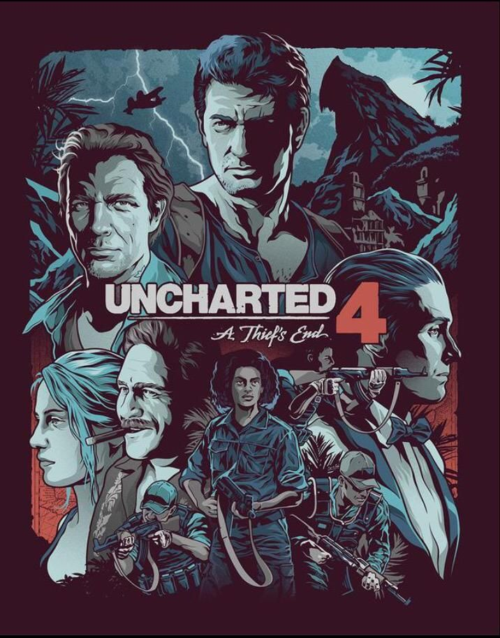 The gorgeous steelbook was done by the super talented @thatkidwhodraws. #Uncharted4