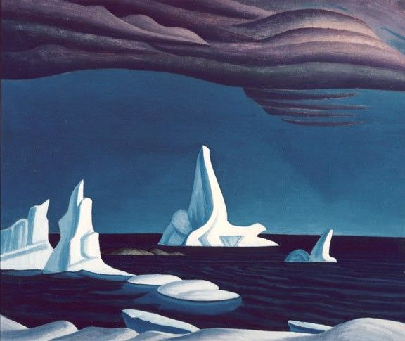 "Lawren Harris Paintings | Lawren Harris""Icebergs"" c.1930"
