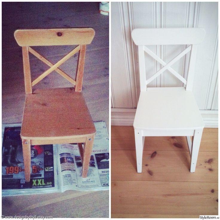 stol,barnstol,måla,måla om,vit,vitt,pyssel,pyssla,pysslat,barnrum,barnrumsmöbler,diy,do-it-yourself