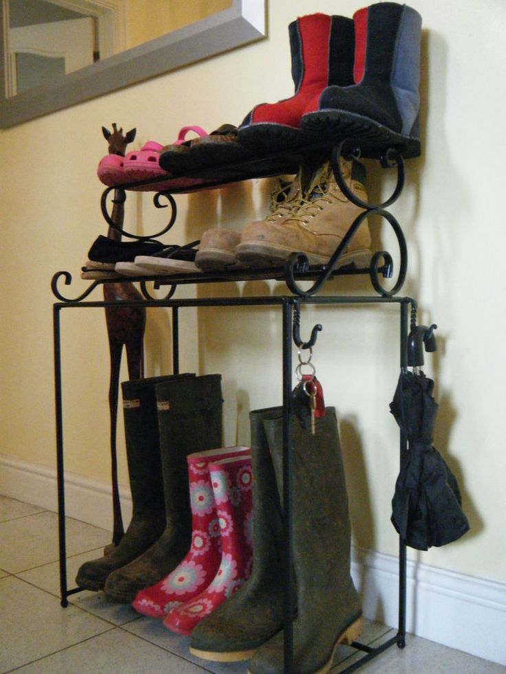 wrought iron shoe rack (handmade), metal welly stand. in Home, Furniture & DIY, Storage Solutions, Shoe Storage | eBay