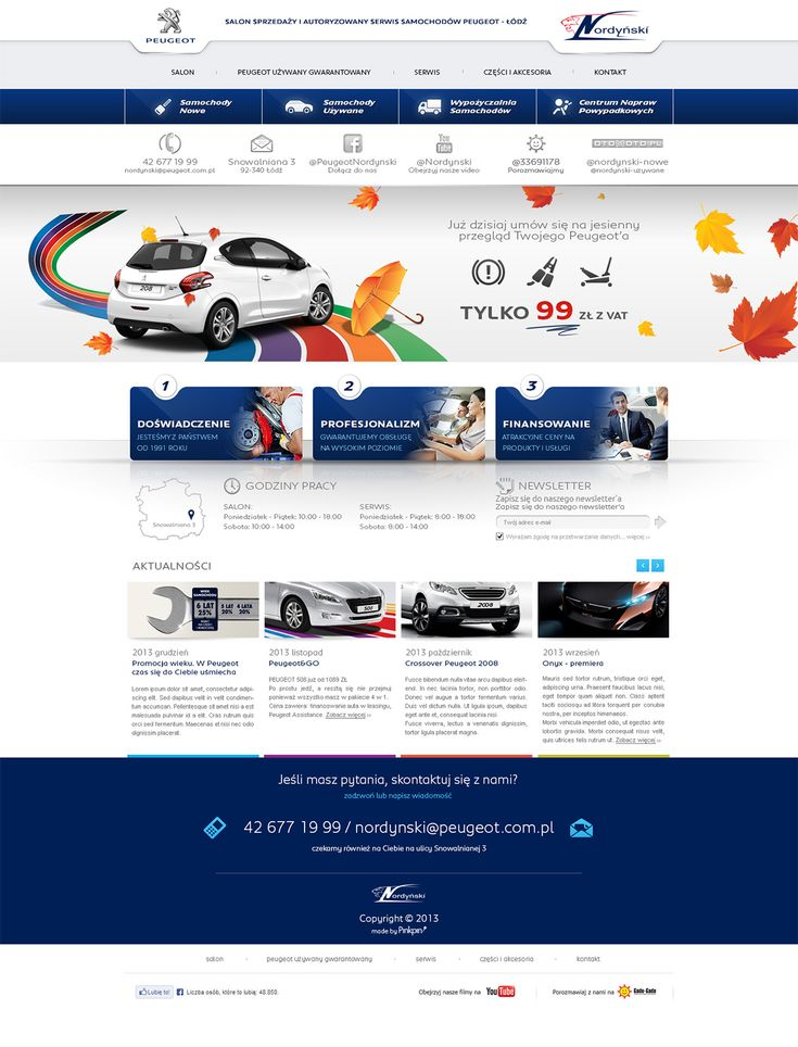 peugeot dealer web design