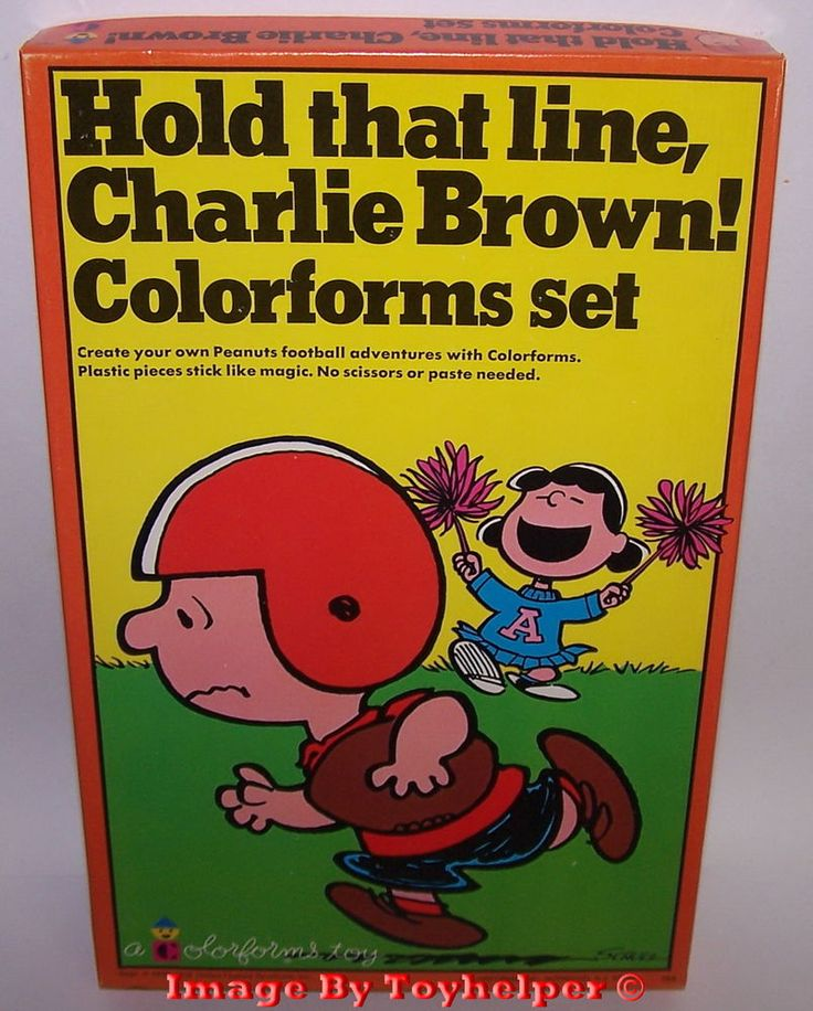 Hold that line Charlie Brown! Colorforms Adventure Play Set Unused Vintage #Colorforms