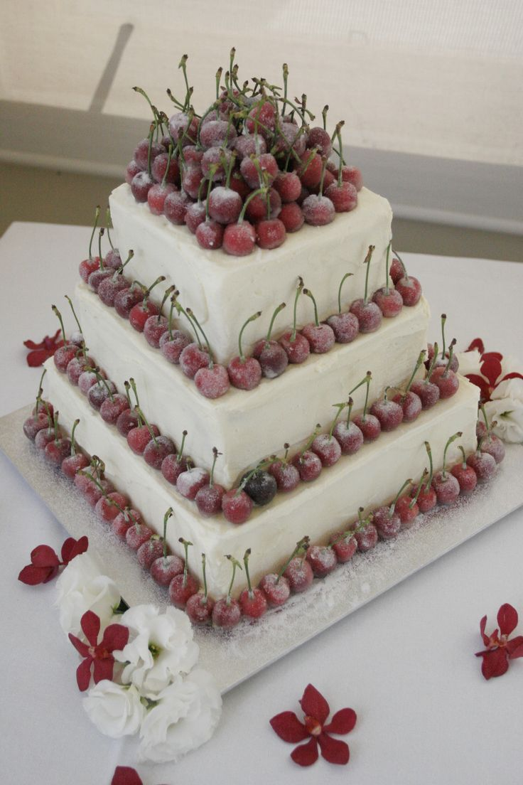 With a cherry on top! #wedding #cake #love #specialoccasion #perfectday #weddingcake #elegant #cherry