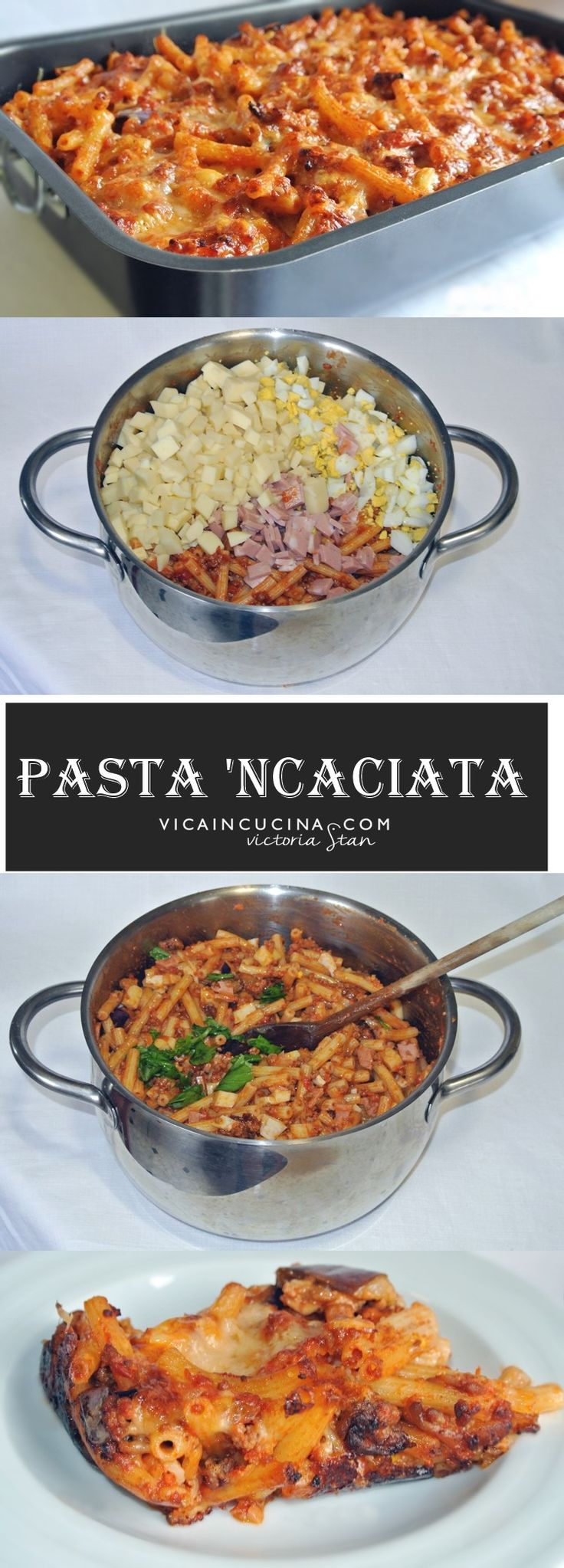 Pasta 'ncaciata is an authentic sicilian dish. Recipe with step by step pictures by @vicaincucina.