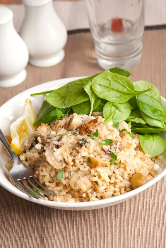 Vegetarian Brown Rice Risotto Recipe - The Culinary Life