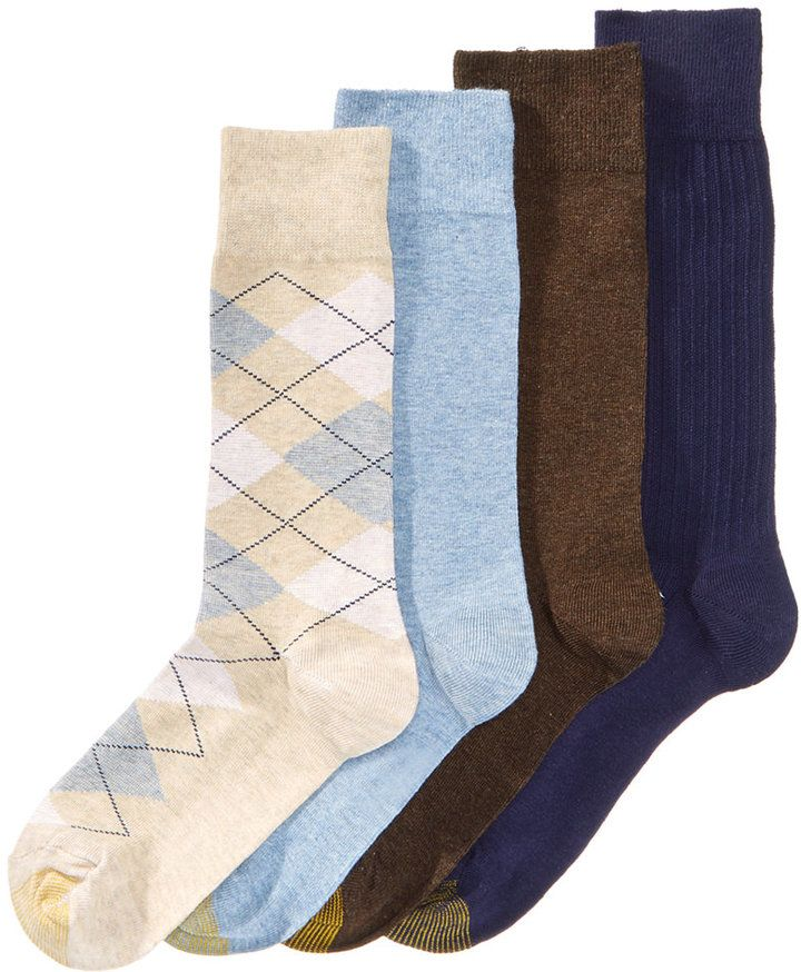 Gold Toe Argyle Dress Socks 4-Pack