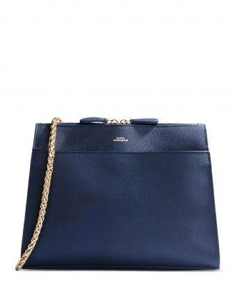 Marine Leather Edith Shoulder Bag