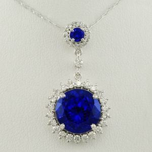 24 best tanzanite pendants necklaces images on pinterest drop tanzanite diamond pendant inspired by the natural phosphorescence of the ocean piercing royal blue aloadofball Images