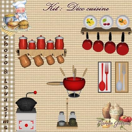 Kit Deco Cuisine Choco Lova Sims Ts3 Kitchen Stuff