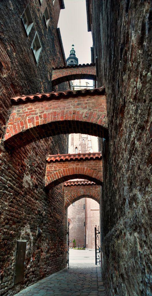 Elbląg, w tle Wieża Katedry pw. św. Mikołaja | Pilago