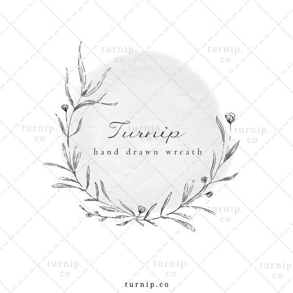 Black And White Watercolor Wild Flower Wreath Clipart Png Logo Png Wedding Invitation Clipart Botanical Laurel Wreath Sublimation Invitation Clipart Clip Art Borders Clip Art