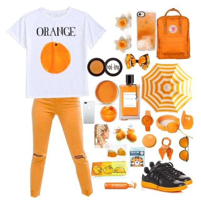 """Orange ORANGE 🏀🍊"" by ola-kruszyk on Polyvore featuring moda, ASOS, adidas, Fjällräven, Casetify, NIKE, Hermès, Disney, Crayo i John Lewis"
