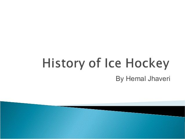 Hemal Jhaveri is Senior Social Media Editor in USA TODAY Sports. I have created a PPT on History of Hockey.