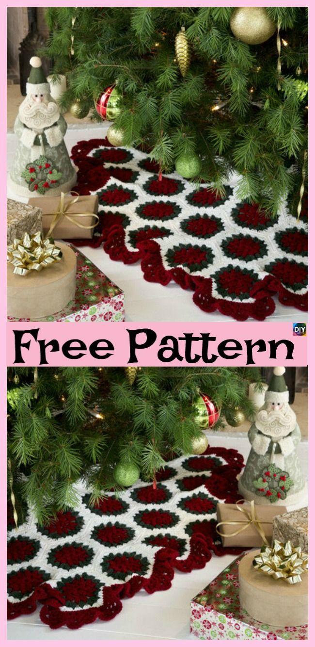 10 crocheted christmas tree skirt free patterns crochet rh pinterest com