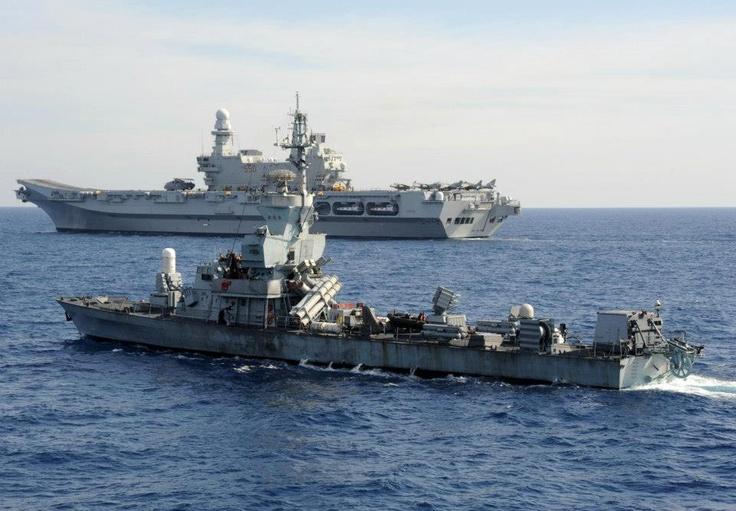 Si è appena concluso l'addestramento congiunto tra la Marina Militare italiana e quella israeliana nelle acque del Mediterraneo orientale.