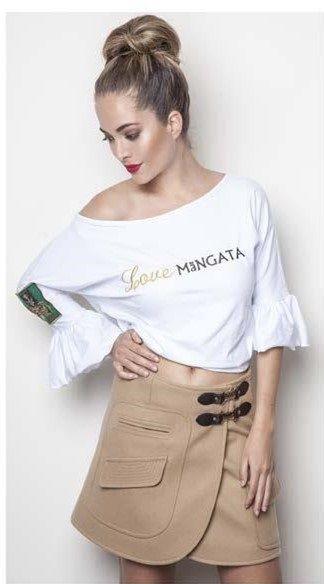 😀 ¿Te gusta esta #minifalda con #bolsillo en #color #camel de #Mängata? A nosotras nos encanta‼ Disponible en #MaribelFernández