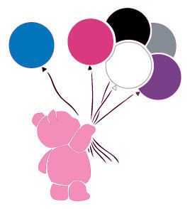 Pink Teddy With Balloons