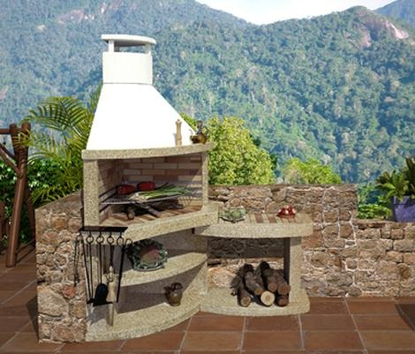 1000 images about parrilleras on pinterest patio for Barbacoas de piedra para jardin
