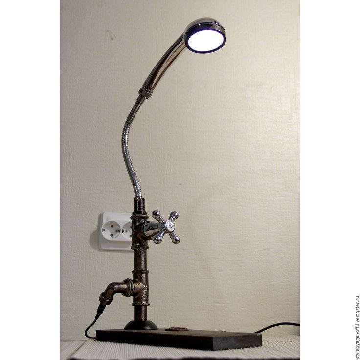 Купить Жираф (Giraffe) - настольная лампа, винтажный стиль, индустриальный стиль, лампа, лампа эдисона