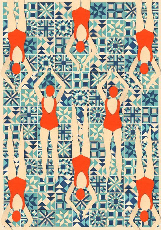 Lou Taylor 1973 competition papercut