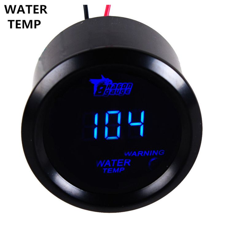"EE support  2"" 52mm Black Cover Blue LED Digital Clocks Water Temp Gauge Degrees Fahrenheit Thermometer Auto Car Styling XY01"