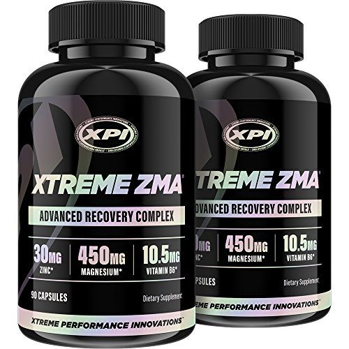 Xtreme ZMA 90 Caps (2 Pack) - Muscle Recovery - Post Work Out Supplement, Work Out Supplements:   Finding a supplement that lives up to all of its claims has never been easy. Most supplements combine small amounts of what your body actually needs with lackluster ingredients. XTREME ZMA is far from your ordinary zinc and mineral replenishing formula. It contains the exact meal of minerals and nutrients your muscles would order every time had they the choice. br ZMA is a scientifically f...