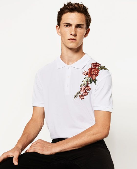 Image 2 of FLORAL POLO SHIRT from Zara