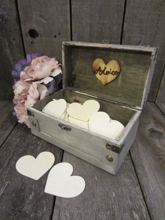 Rustic advice box, wood advice box, advice cards, advice for the bride and groom, bridal shower advice, wedding advice, advice box, rustic