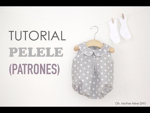 DIY Patrones y tutorial: Peto para bebé - YouTube