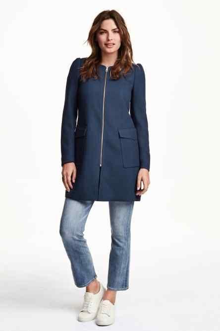 Kabát ze strukturované tkaniny