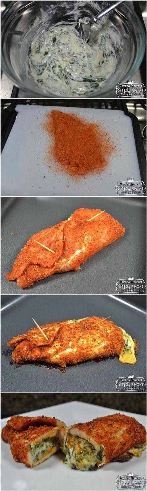 Pechuga de pollo rellena.