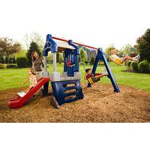 Plastic Swing Sets Back Yard | ... Plastic Swing Set for Kids. Plastic Swing Sets for Healthy Outdoor