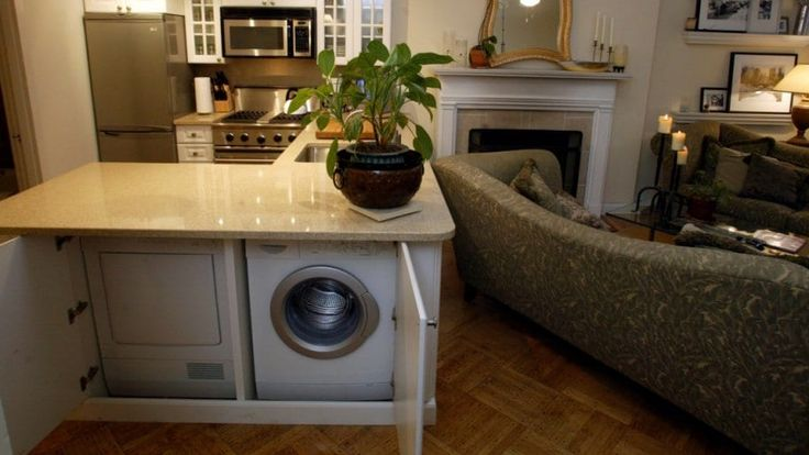 Washer And Dryer In Kitchen Island In 2019 Laundry Room