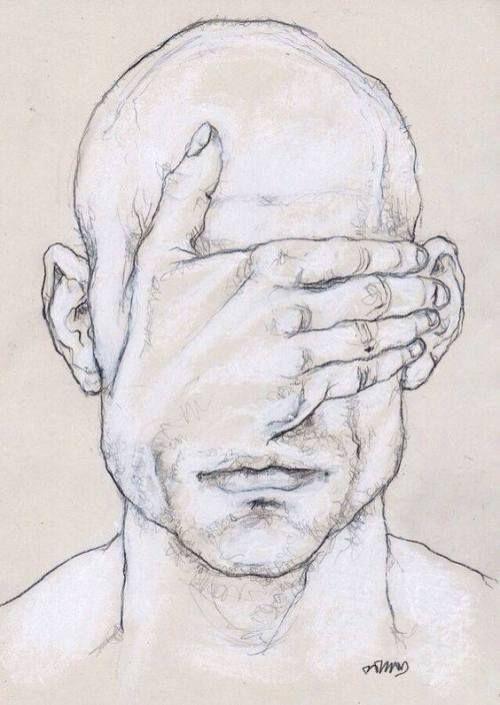 Salvatore Bruno, ich mag auch den Mangel an Identität in diesem Stück und die Art und Weise, wie das Gesicht ausgeblendet wird, Emotionen präsentiert, könnte mit Farbe beeinflusst werden