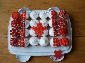Canadian Flag Cupcake Cake