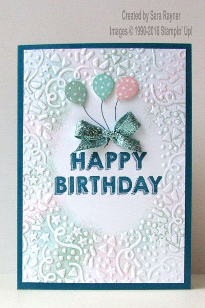 Party wishes confetti card, using supplies from Stampin' Up! www.craftingandstamping.com #stampinup