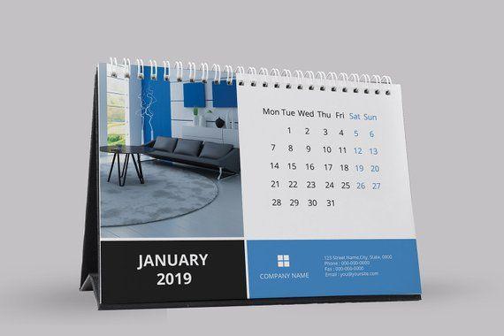 Desk Calendar Template 2019 Corporate Desk Calendar Template