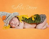 Baby Scarecrow Costume / Newborn Scarecrow Photo Prop / Wizard of Oz Baby Scarecrow Costume / Halloween Costume for Baby / Fall Photo Prop