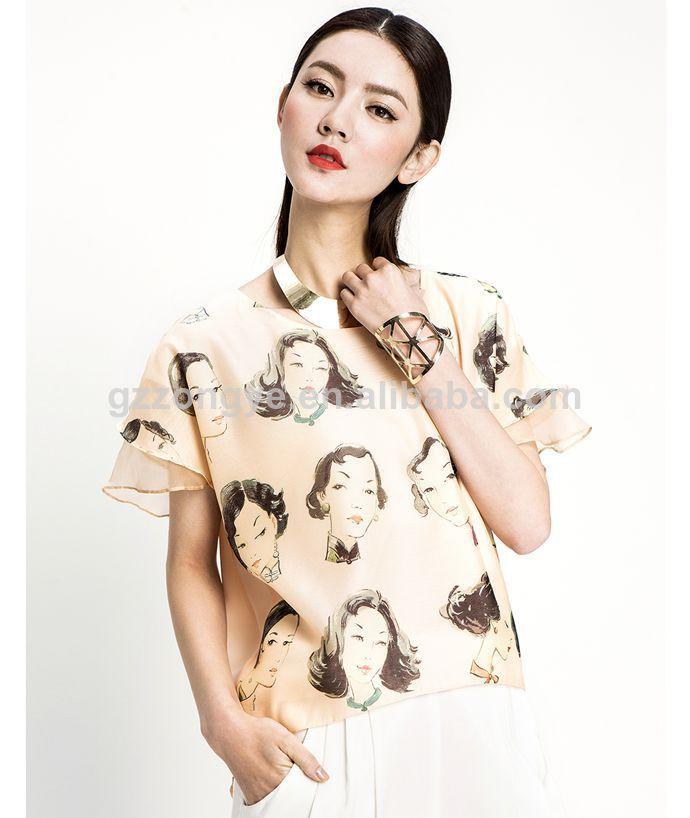 print chiffon blouse