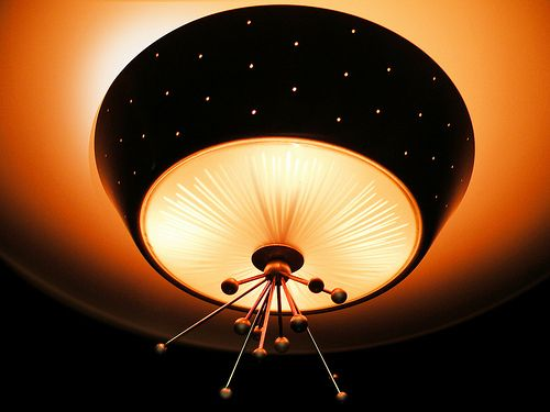 mid century atomic light fixture