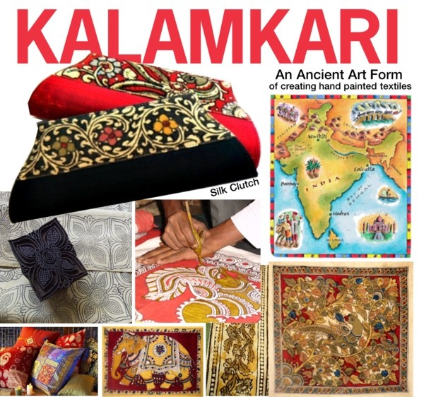 """""""The Indian Art of KALAMKARI"""" by bb60477 ❤ liked on Polyvore"""