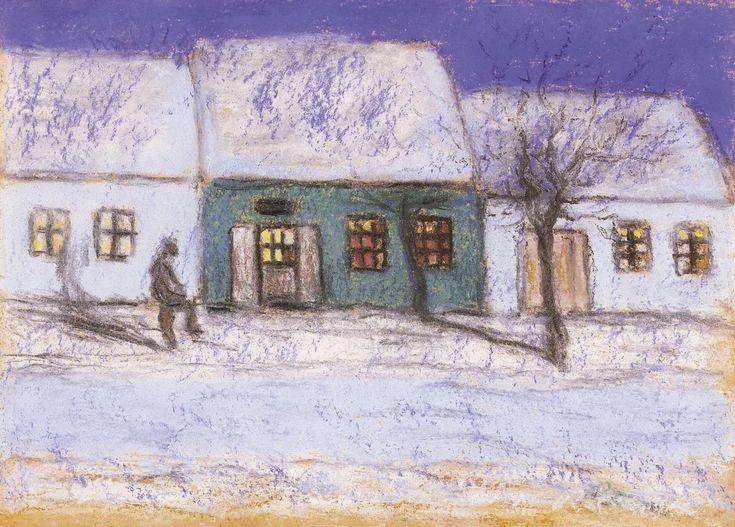 The Athenaeum - Landscape in Moonlight (József Rippl-Rónai - )