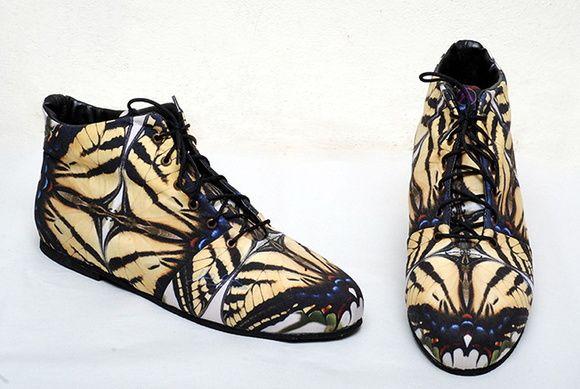 Botitas de verano mariposa print