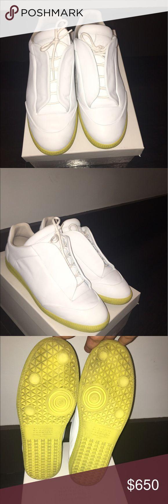 Maison Margiela Low Top Sneakers Size 12 Worn Once Maison Margiela sneakers.                 Regular price: 795  Asking price: 650 Maison Margiela Shoes Sneakers