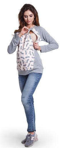 Dragonfly хлопковая блуза в анималистический принт для беременных и кормящих