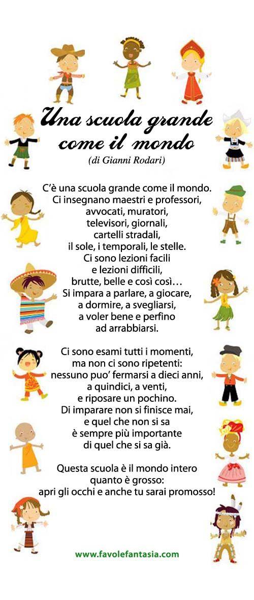 Una scuola grande come il mondo - Gianni Rodari