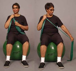 Thera Band Shoulder Pnf D1 Ext Sit Older Ot Exercises